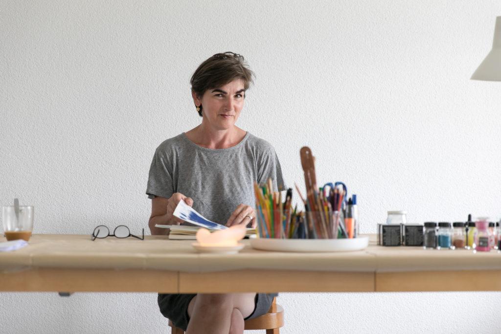 Roswitha Louwes, Kunst, Malerei, Porträt, Atelier